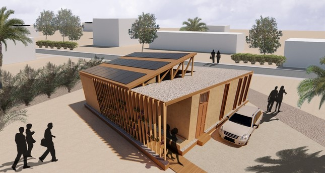 The house will be built in Morocco in three weeks.
