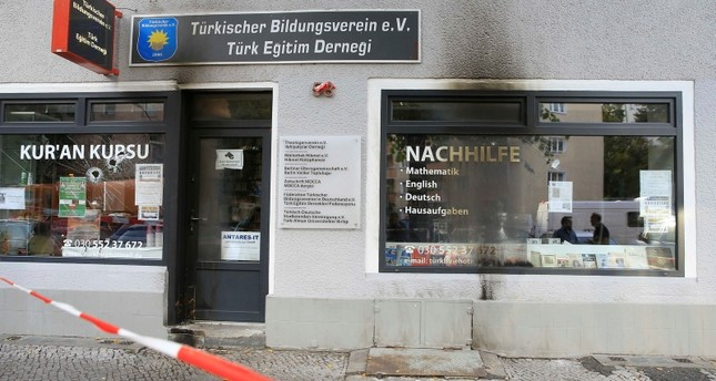 أنصار بي كا كا الإرهابي يضرمون النار بمقر جمعية تركية في برلين