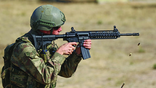 The first Turkish-made assault rifle MPT-76 is being exported to Turkey's allies. (AA Photo)