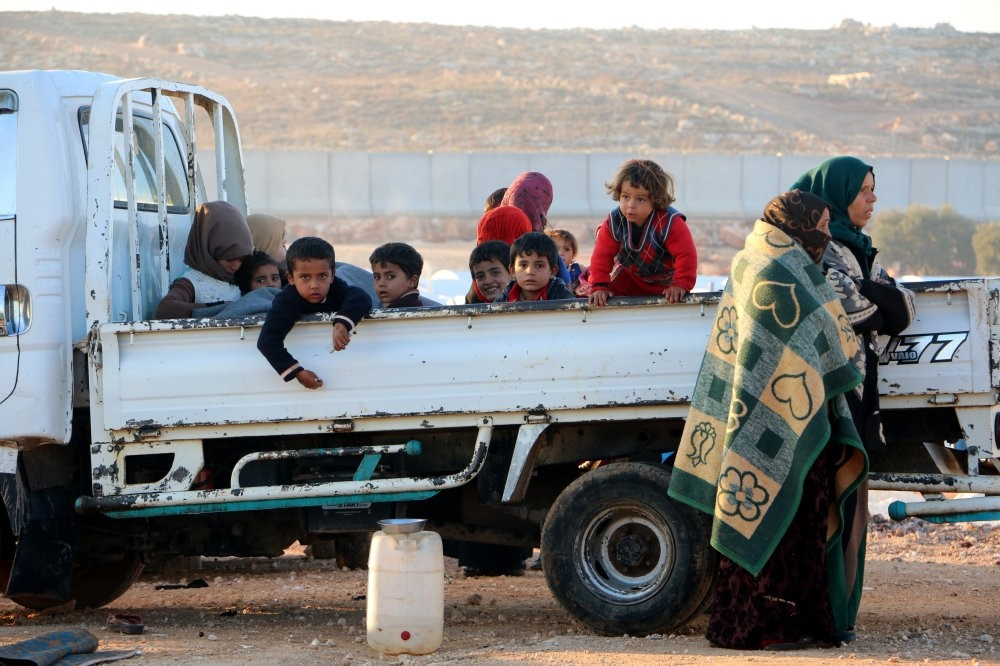 Civilians fleeing from southern Idlib to the northern part of the province in anticipation of a regime offensive.