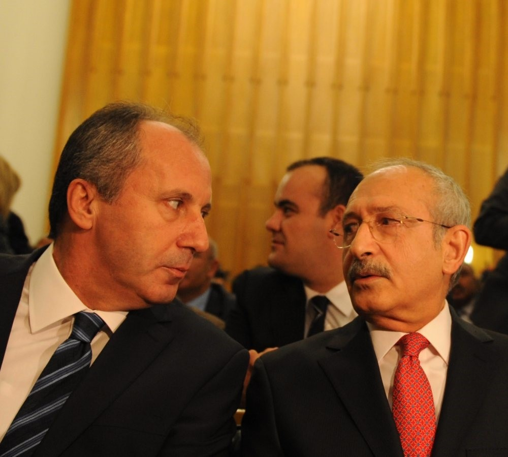 Muharrem u0130nce (L), a CHP deputy and candidate for the CHP leadership, said that he discussed the rivalries in the party with Chairman Kemal Ku0131lu0131u00e7darou011flu (R), and their negative implications on how the public sees it.