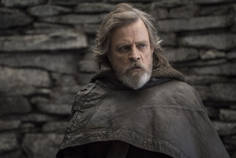 This image released by Lucasfilm shows Mark Hamill as Luke Skywalker in ,Star Wars: The Last Jedi., (AP Photo)