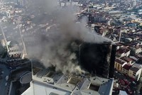 Istanbul: Großbrand in Krankenhaus