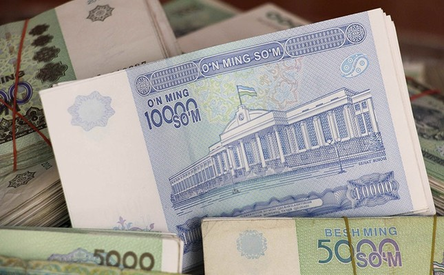 Uzbekistani Som banknotes are seen in this picture illustration taken May 4, 2017. (Reuters Photo)