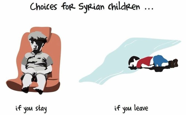 Sudanese cartoonist depicts heartbreaking fate for Syrian children