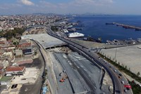 The construction work on the Eurasia highway tunnel, which will connect Istanbul's Asian and European sides under the Bosporus Strait, has pushed up real estate prices up in nearby districts....