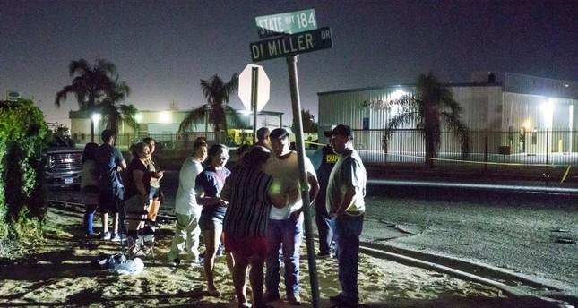 موقع إطلاق الرصاص في مدينة بيكرزفيلد بولاية كاليفورنيا