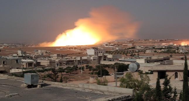 روسيا تقصف بلدات شمالي حلب بالقنابل الفوسفورية