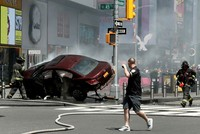 The driver of a vehicle that tore through crowds wreaking havoc in the heart of New York City has been charged with murder, police said Thursday night. Thursday's incident sparked fear in the US...