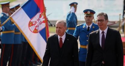 Эрдоган прибыл с двухдневным визитом в Сербию