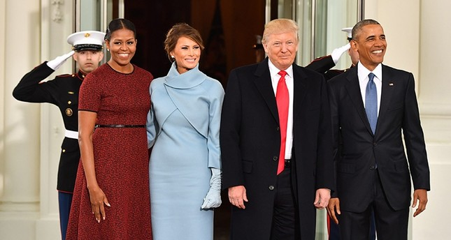 Then-U.S. President Barack Obama (R) and Michelle Obama (L) pose with then-President-elect Donald J. Trump and wife Melania at the White House before the inauguration in Washington, D.C., Jan. 20, 2017. (EPA Photo)