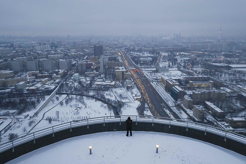 A security guard stands on the roof of the residential compound Tricolour in Moscow, Russia January 15, 2018. (Reuters Photo)