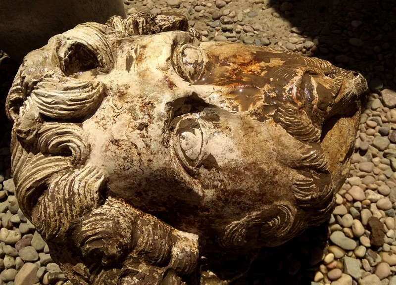 This undated photo released by the Egyptian Ministry of Antiquities, shows the head of Roman Emperor Marcus Aurelius that was found in the Temple of Kom Ombo, in Aswan, 585 miles (940 kilometers) south of Cairo, Egypt. (AP Photo)