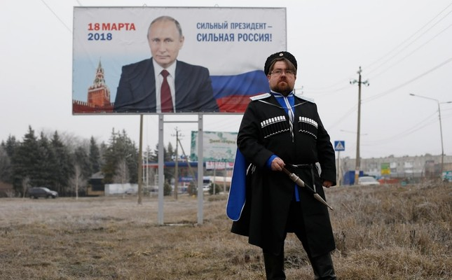 Andrei Vorontsov, 42, ataman of a local Cossack society and supporter of Putin, poses for a picture in Mikhaylovsk town in Stavropol Region, Russia, February 21, 2018. It's hard to say what the future will look like, said Vorontsov. (Reuters Photo)