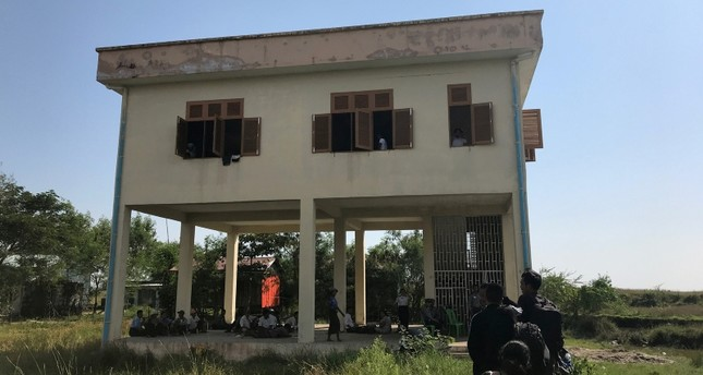 View of a building where suspected Rohingya Muslims are detained by Myanmar immigration authorities after arriving  aboard of a boat at Thande village outside Yangon, Myanmar, November 16, 2018. (REUTERS Photo)