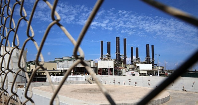 This picture shows the Gaza power plant in Nuseirat, in the central Gaza Strip Oct. 9, 2018. (AFP Photo)
