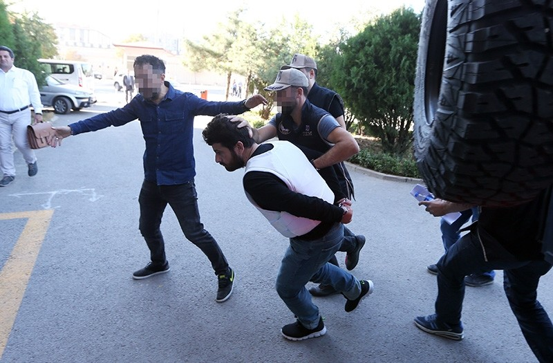 Yusuf Nazik transferred to court by Ankara Security Directorate on Monday, Sept. 24, 2018. (AA Photo)