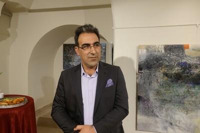 Syrian artist Ibrahim al-Hasan. (AA Photo)