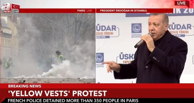 أردوغان: شوارع أوروبا ملتهبة ونعارض الفوضى كما نعارض القوة المفرطة تجاه المتظاهرين