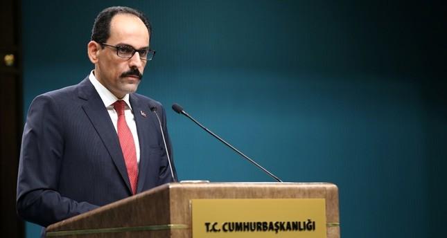 الرئاسة التركية تدعو المجتمع الدولي للوقوف بجانب القبارصة الأتراك في إحلال السلام