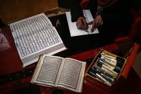 Sadiye al-Ukkad, a young woman from Gaza, spent three years carefully writing the Quran using the Hafiz Osman calligraphy technique. Hafiz Osman was the most famed 17th century Ottoman...