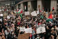 جانب من مظاهرة أخرى في نيويورك الفرنسية
