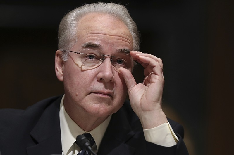 In this Jan. 24, 2017 file photo, Health and Human Services Secretary-designate, Rep. Tom Price, R-Ga. pauses while testifying on Capitol Hill. (AP Photo)