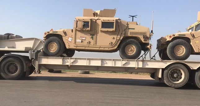 The US armoured vehicles are being transferred to the YPG forces in the Qamishli city of northern Syria on the border with Turkey.  (File Photo)
