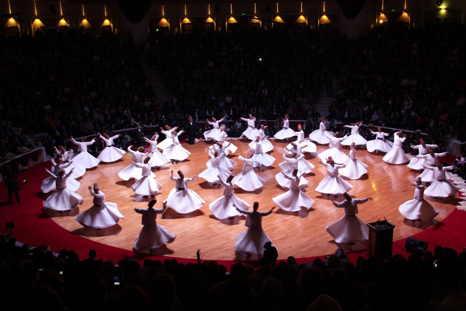 As part of the u015eeb-i Arus ceremonies, various events including whirling performances will be organized.