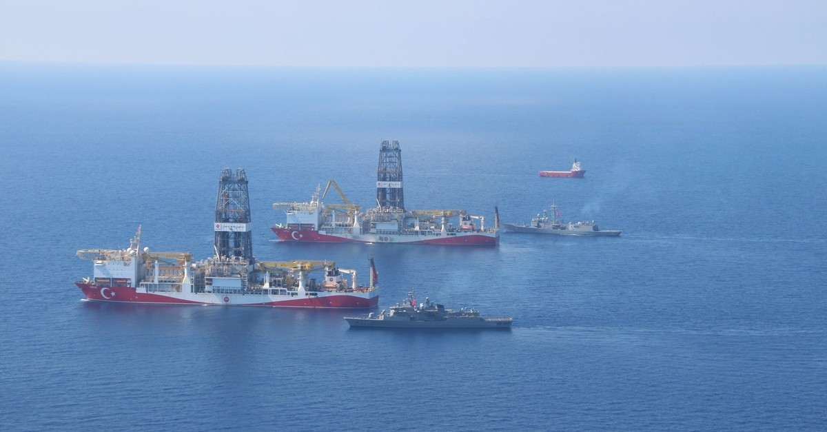 Turkeyu2019s twin drilling vessels Yavuz and Fatih are accompanied by military frigates and seismic survey vessel Oruu00e7 Reis in their hydrocarbon exploration in the Eastern Mediterranean.