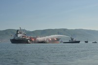 Fire breaks out in tanker carrying LPG in Gulf of Izmit