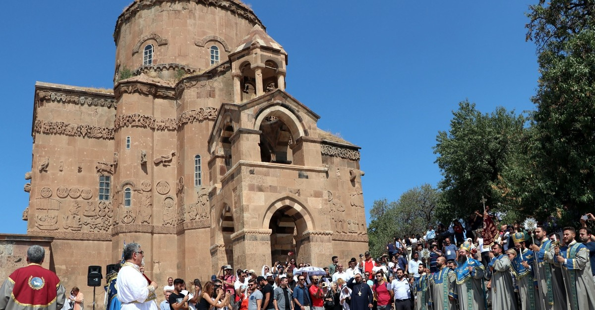 The church, built between 915 and 921 A.D., is the only building on Vanu2019s Akdamar island.