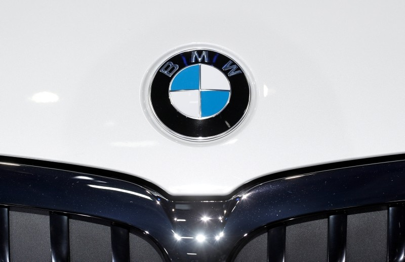 The logo of BMW is pictured during the first press day of the Paris auto show, in Paris, France, October 2, 2018 (Reuters Photo)