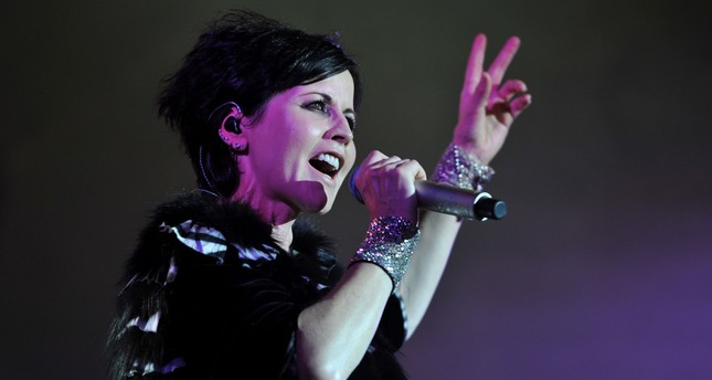 In this file photo taken on July 07, 2016 Irish singer Dolores O'Riordan of the  The Cranberries performs on stage during the Cognac Blues Passion festival in Cognac. (AFP Photo)