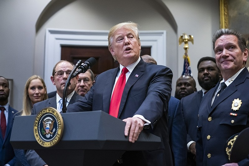 US President Donald J. Trump speaks on bipartisan criminal justice reform legislation known as The First Step Act in the Roosevelt Room of the White House in Washington, D.C., USA, Nov. 14, 2018. (EPA Photo)