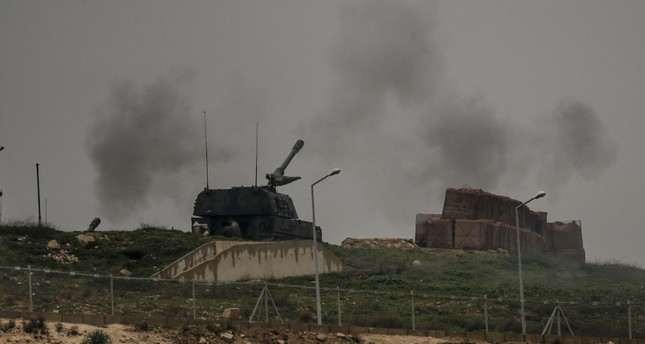 T-155 Fırtına howitzers, which are manufactured in the first Army Maintenance Center Command of the Turkish Military in the industrial city of Sakarya by the Mechanical and Chemical Industry Company, are used in the Afrin offensive.