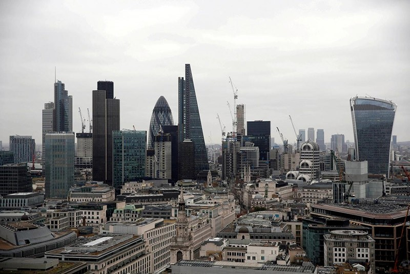 A view of the London skyline shows the City of London financial district, seen from St Paul's Cathedral in London, Britain February 25, 2017. (Reuters Photo)