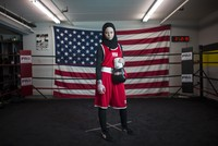 US Muslim girl wins right to box wearing headscarf