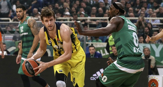 Fenerbahçe's Jan Vesely during the match (AA Photo)