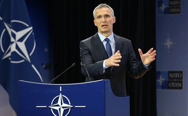 NATO General Secretary Jens Stoltenberg holds a press conference in Brussels, June 28, 2017. (AA Photo)