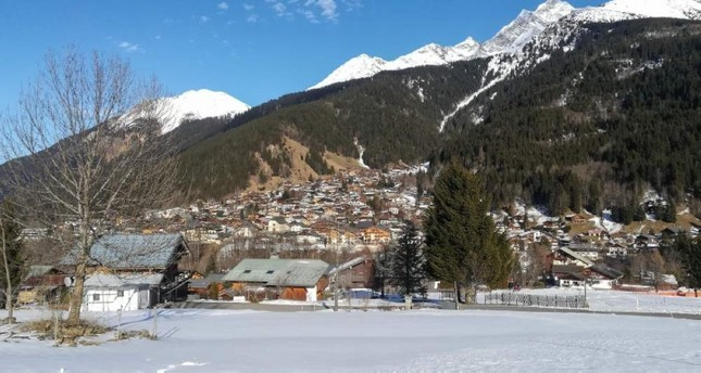 This picture taken on Feb. 8, 2020, shows a general view of Les Contamines-Montjoie, near Mont Blanc in the French Alps, where five British nationals including a child have tested positive for the new coronavirus in France. AFP Photo