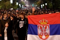 Thousands of protesters, mainly students, rallied for the third straight night in Belgrade on Wednesday to protest against the overwhelming victory of Prime Minister Aleksandar Vucic in a weekend...