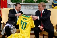 Trump says looking at NATO, OECD membership for Brazil