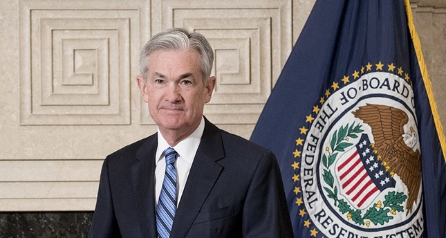 Jerome Powell arrives to take the oath of office as Federal Reserve Board chair at the Federal Reserve, Monday, Feb. 5, 2018 (AP Photo)