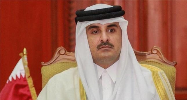 أمير قطر يعزي بوفاة الرئيس مرسي