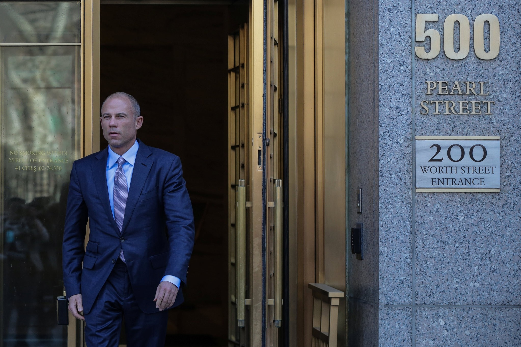 Michael Avenatti, attorney for Stormy Daniels, is pictured outside the Manhattan Federal Court in New York City, New York, U.S., April 13, 2018. (REUTERS Photo)