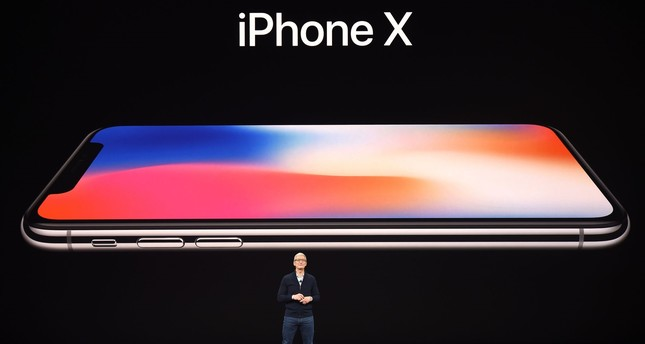 Apple CEO Tim Cook speaks about the new iPhone X during a media event at Apple's new headquarters in Cupertino, California on September 12, 2017.  (AFP Photo)