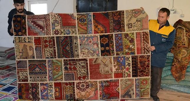 Old carpets undergo transformation in central Anatolia