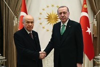 Erdoğan, Bahçeli shake hands on 'National Agreement' alliance