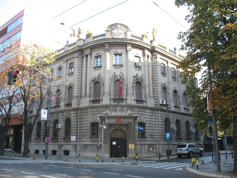 The Turkish embassy in Belgrade, Serbia (Wikipedia Photo)